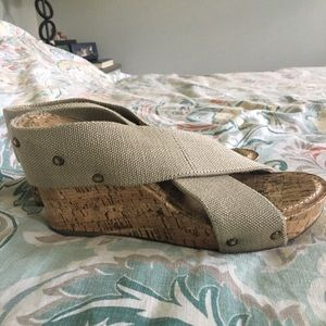 Esprit stretch wedge sandals
